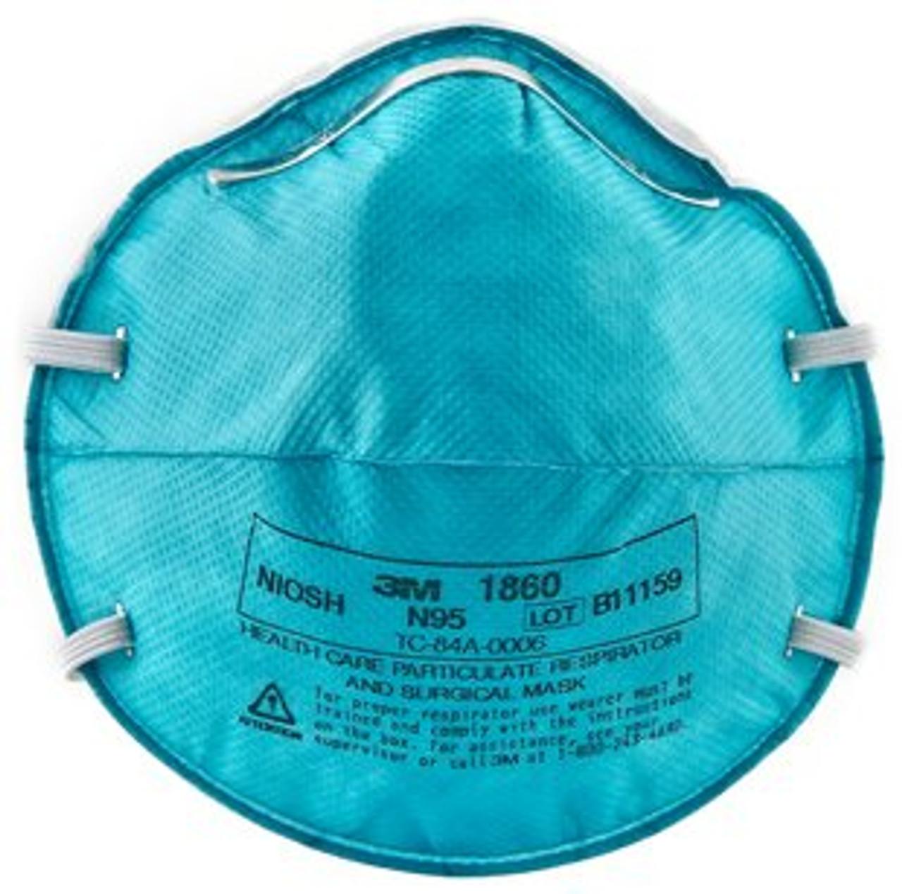 3M #1860 N95 Respirator - 20 per Box