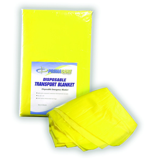 Disposable Emergency Blanket - Yellow