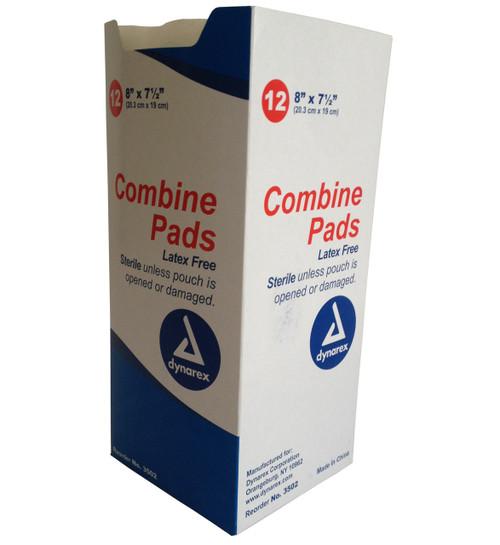 Abdominal Combine Dressing, Sterile - 8'' x 7.5'' - 12 per Box