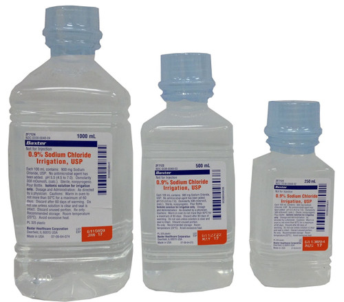 Saline (Sodium Chloride) For Irrigation In Bottles