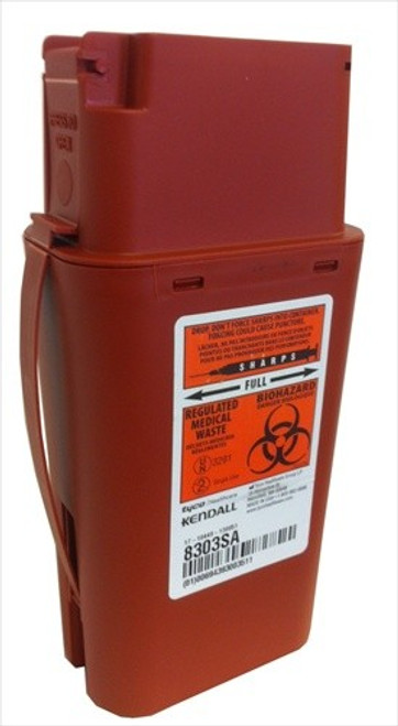 1 Quart Transportable Sharps Container #8303 by Kendall