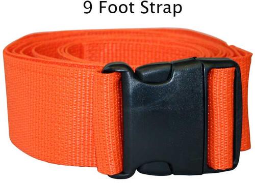 Economy Backboard Strap 9 Foot  - 1 Piece