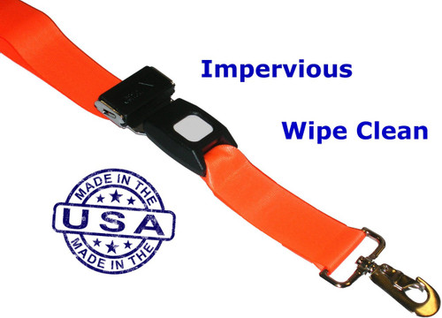 Wipe-Clean VINYL Backboard Strap with Swivel Speed Clips