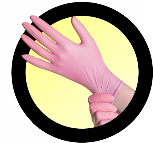 Breast Cancer Awareness Pink Nitrile Exam Gloves
