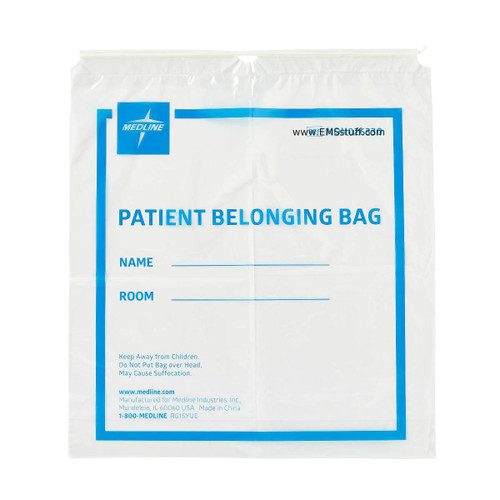 Patient Belongings Drawstring Bag - 25 per Pack
