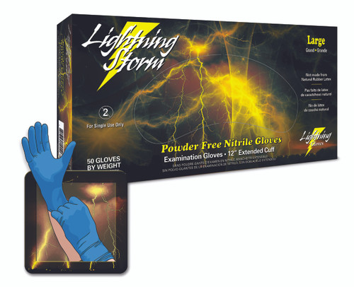 Lightning Storm High-Risk Nitrile Gloves - 50/Box