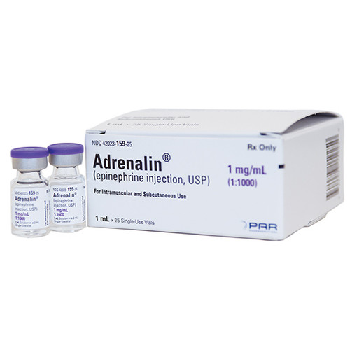 Epinephrine 1mg/ml Vial 1:1,000 for Anaphylaxis