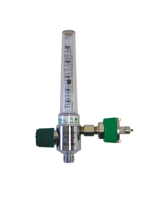 Oxygen Flowmeter 0-15 Lpm with Ohio Adaptor