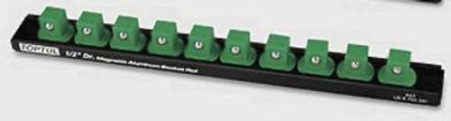 """Toptul PBKB4B2610 Magnetic Socket Rail 1/2"""" (10 Holders)"""