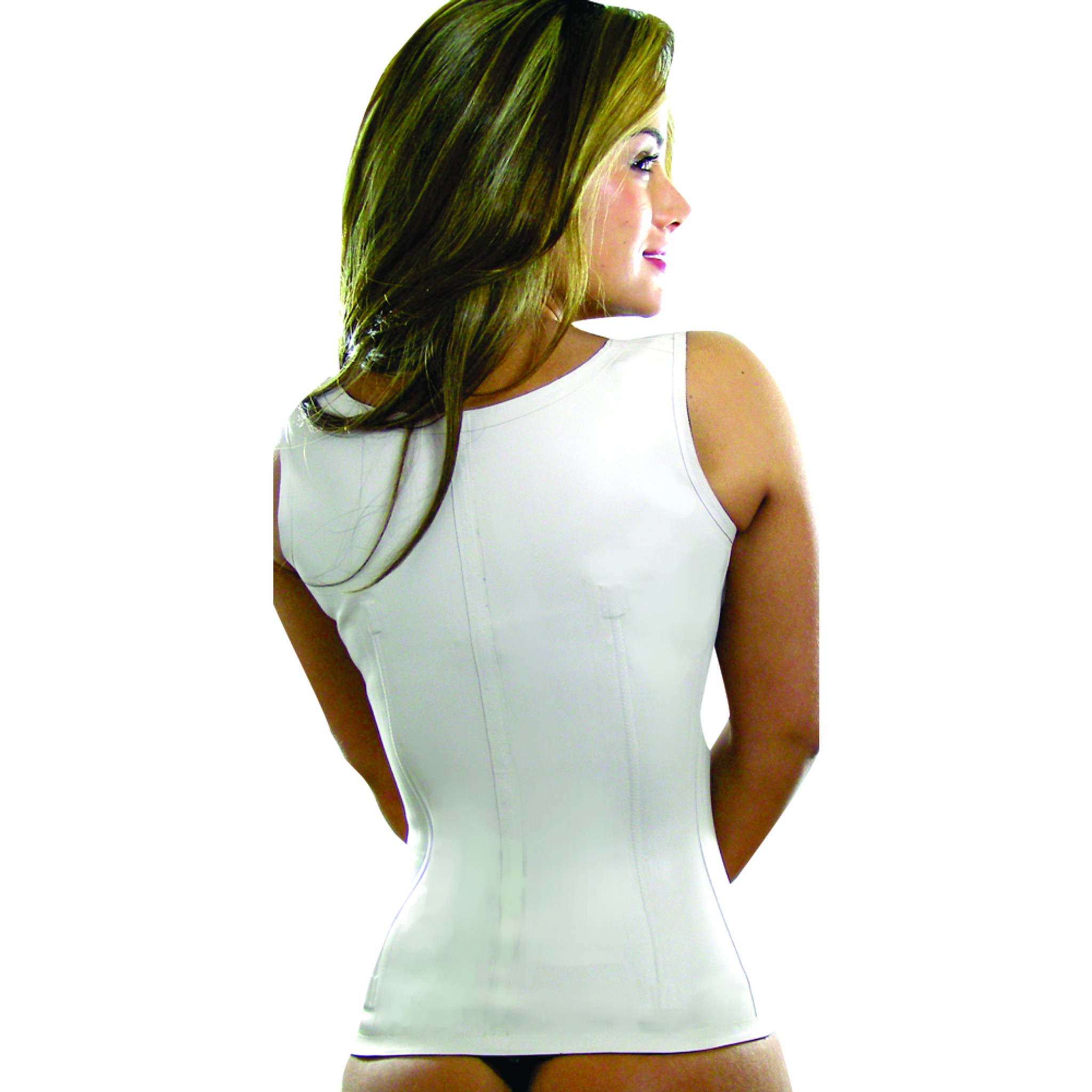 Classic Latex Full Vest Waist Cincher Corset Girdle Chaleco (3 rows)
