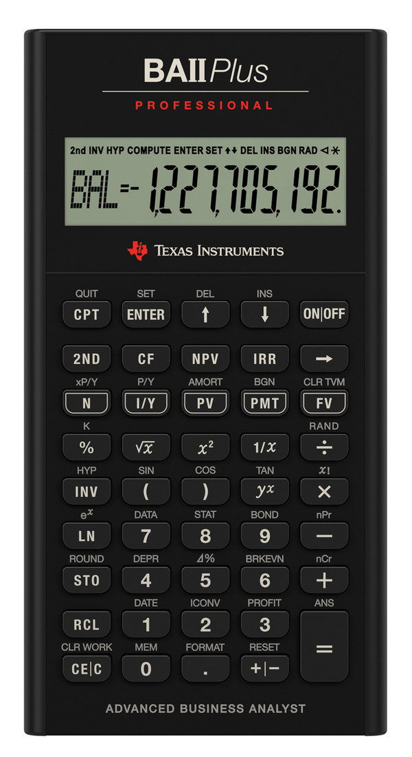 TI-BAII Plus Professional Financial Calculator