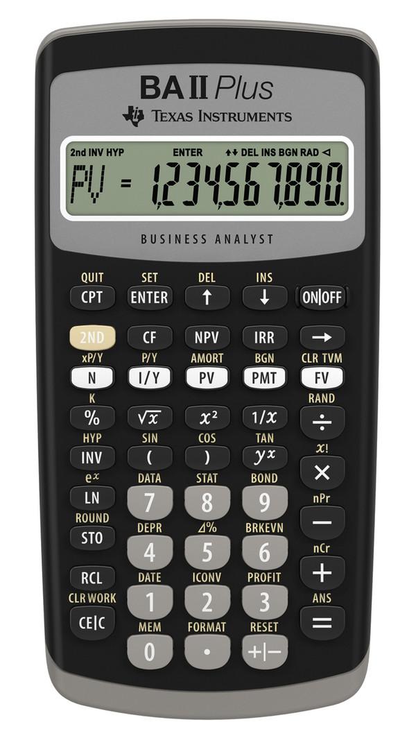 TI BAII Plus Financial Calculator