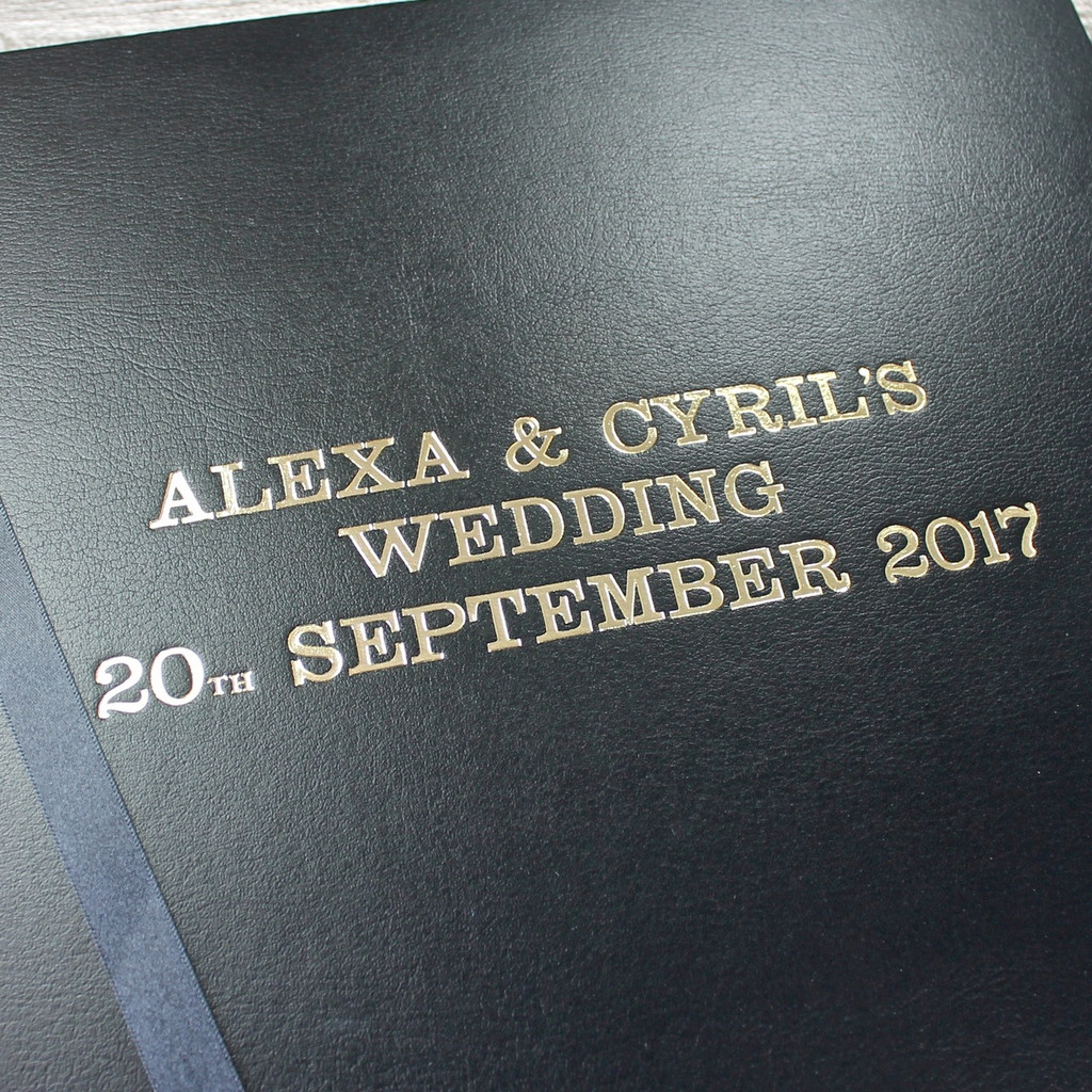 Classic Black Leather Wedding Photo Album