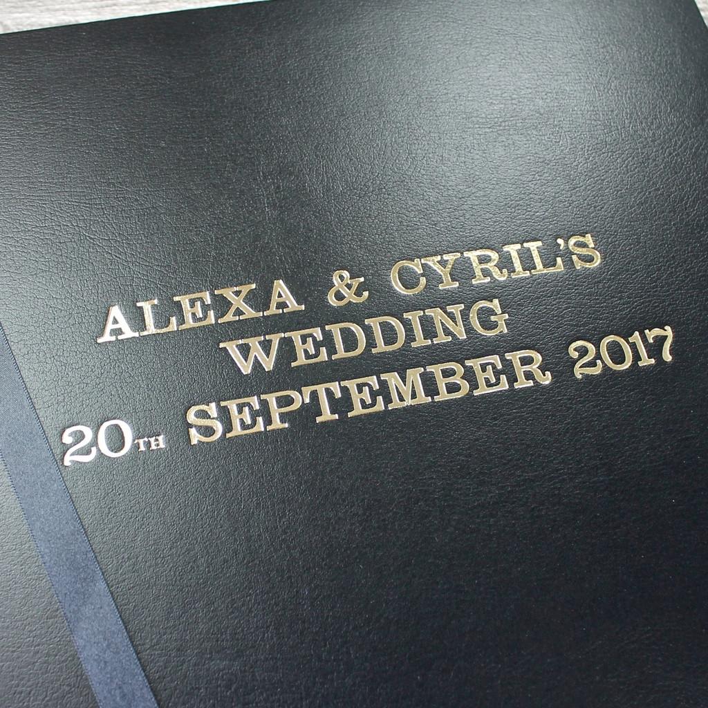 Classic Black Leather Wedding Photo Album