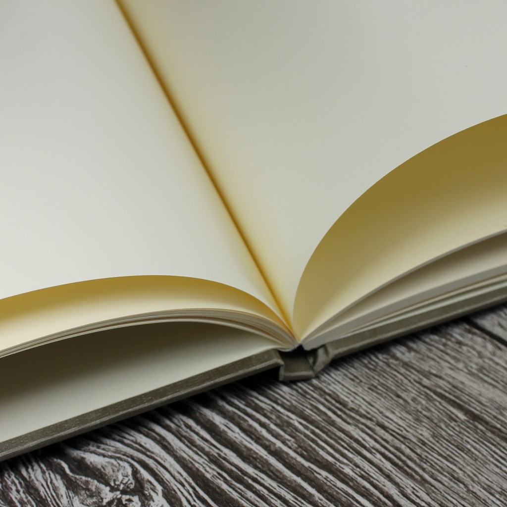Wedding Guest Book In Mink Brown Satin - A5 or A4 Landscape