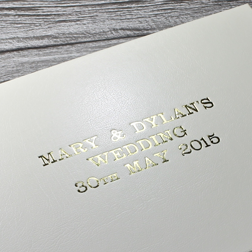 Traditional Classic Ivory Leather Photo Album