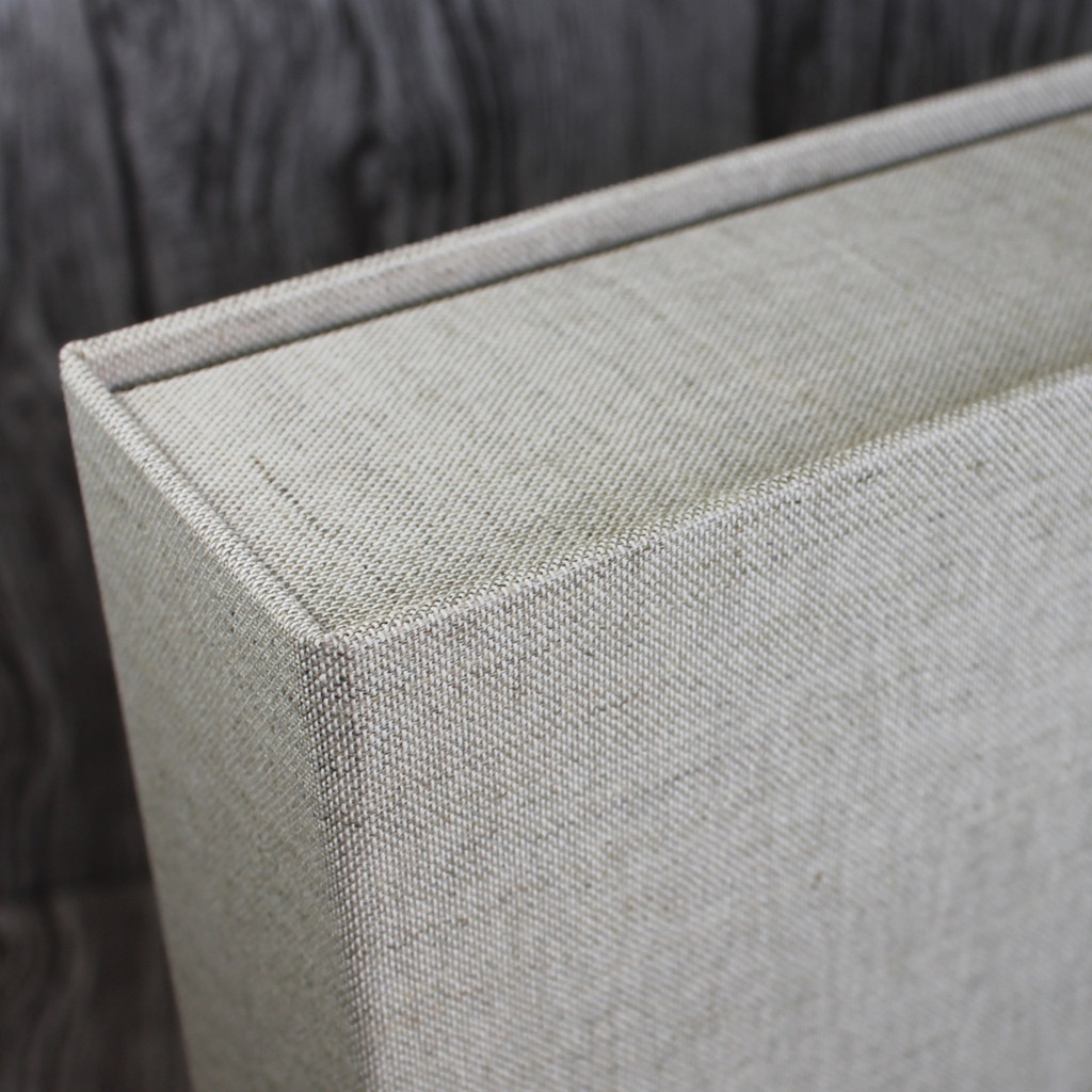 Drop Back / Clamshell Box In Natural Oatmeal Linen Cloth (box only)
