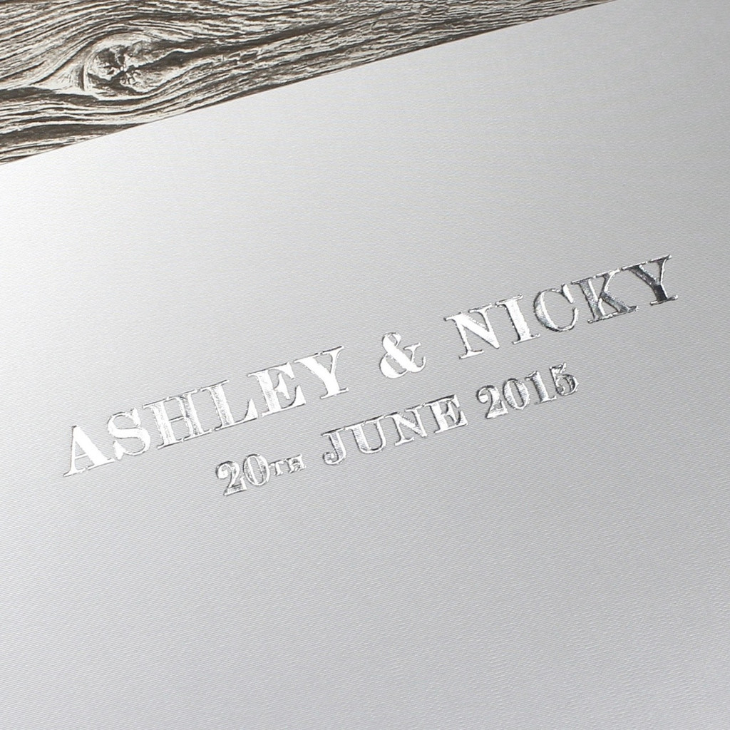 Photo Booth Guest Book - Platinum Silver Satin - A5 or A4 Landscape