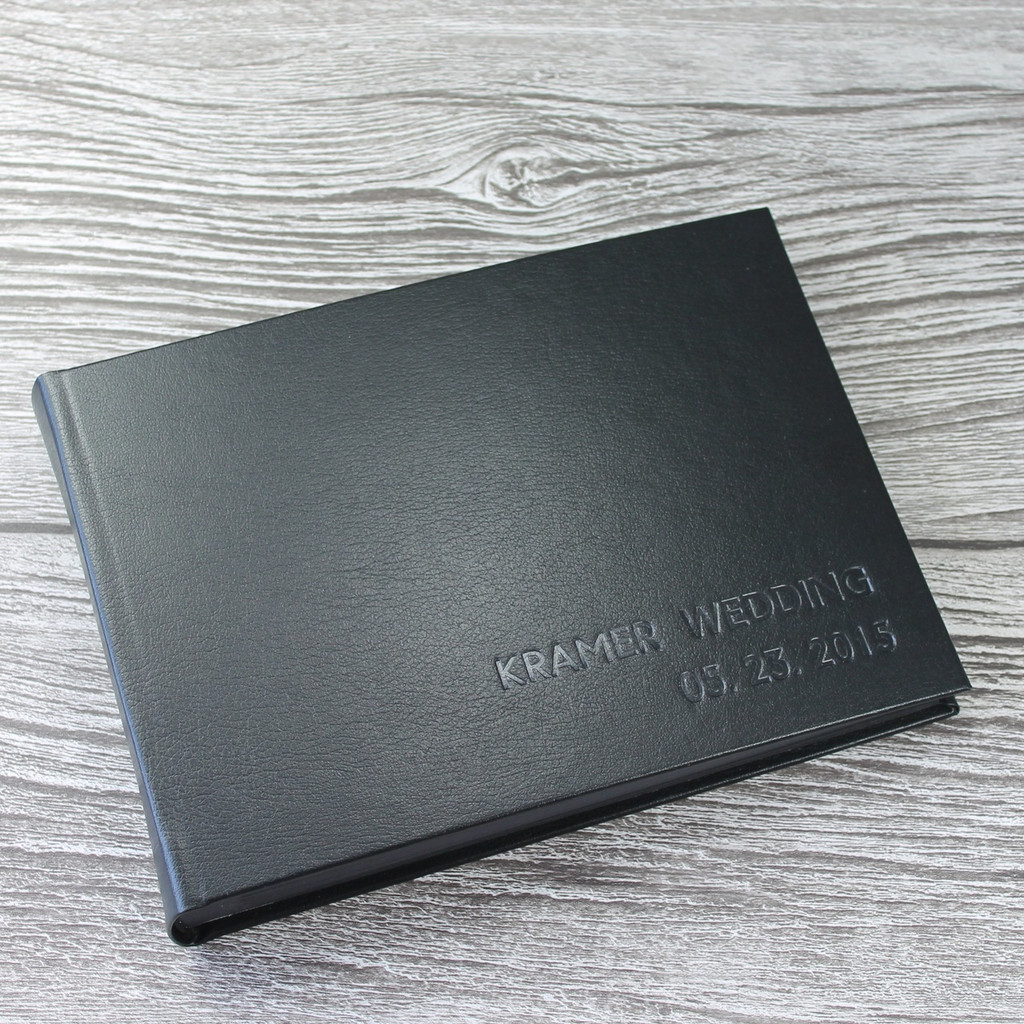 Black Leather Photo Booth Guest Book