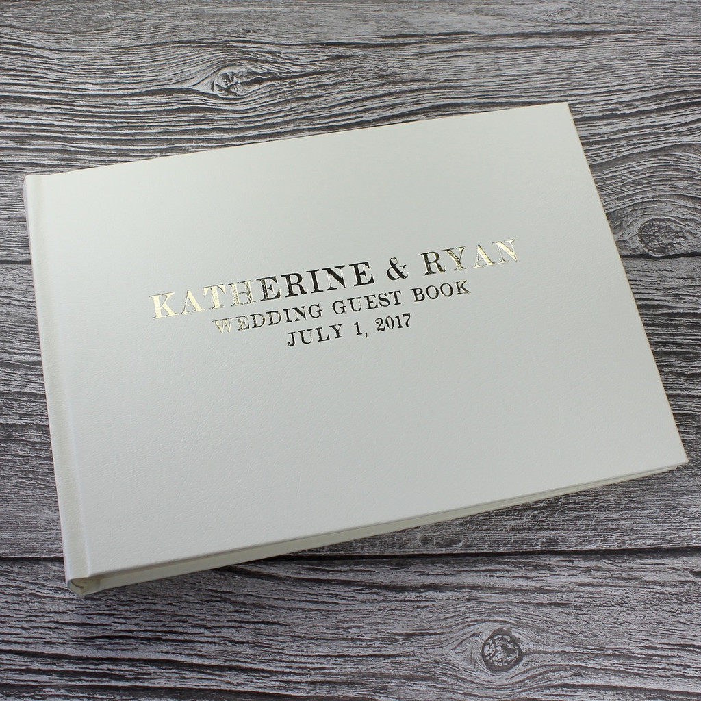 Photo Booth Guest Book - Ivory Leather - A5 or A4 Landscape