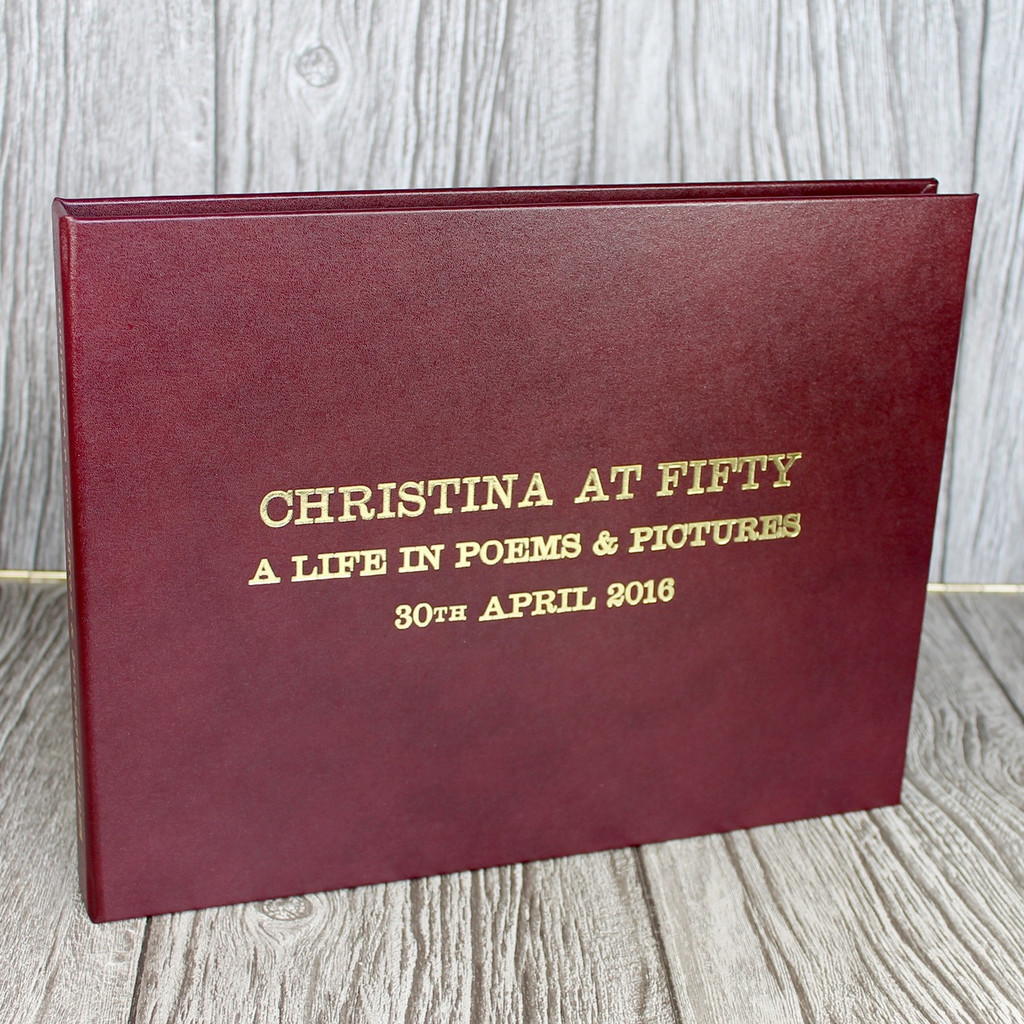 Drop Back / Clamshell Box - Burgundy Leather (box only)