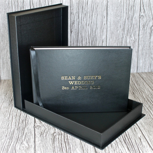 Black Leather Clamshell Box (Box Only)