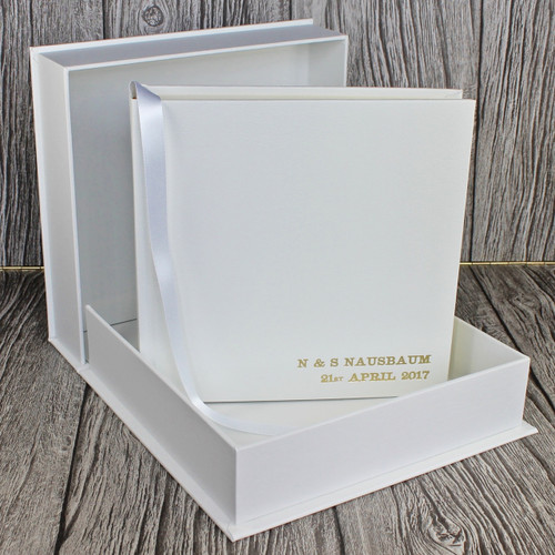 Drop Back / Clamshell Box In White Leather (box only)