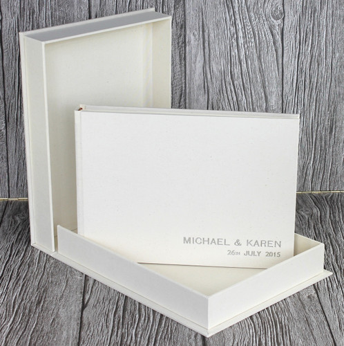 Drop Back / Clamshell Box In Ivory Linen Cloth (box only)