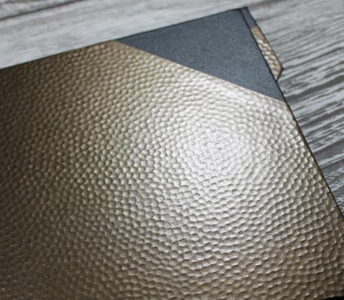 A4 Bronze Dimple & Black Art Portfolio / Cachet Portfolio