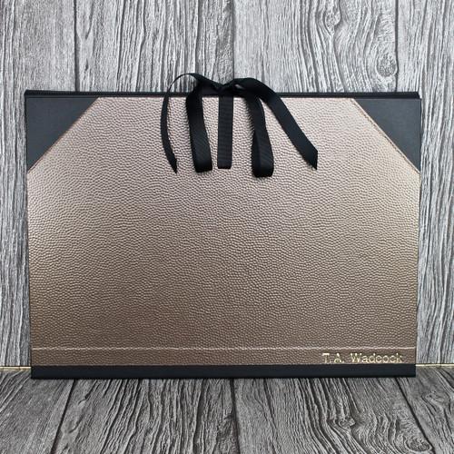 A3 Bronze Dimple & Black Art Portfolio / Cachet Portfolio