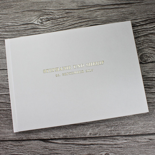 Photo Booth Guest Book - Ivory Satin - A5 or A4 Landscape