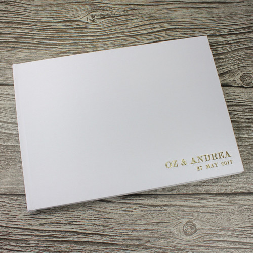 Photo Booth Guest Book - White Satin - A5 or A4 Landscape