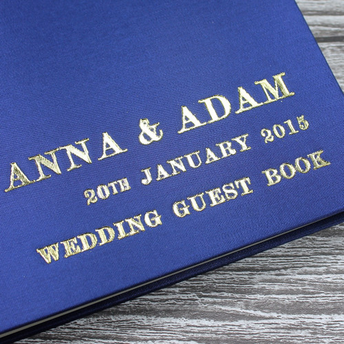Midnight Blue Satin Photo Booth Guest Book