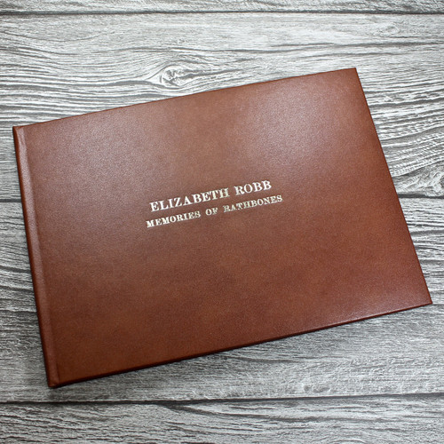 Tan Leather Wedding Guest Book