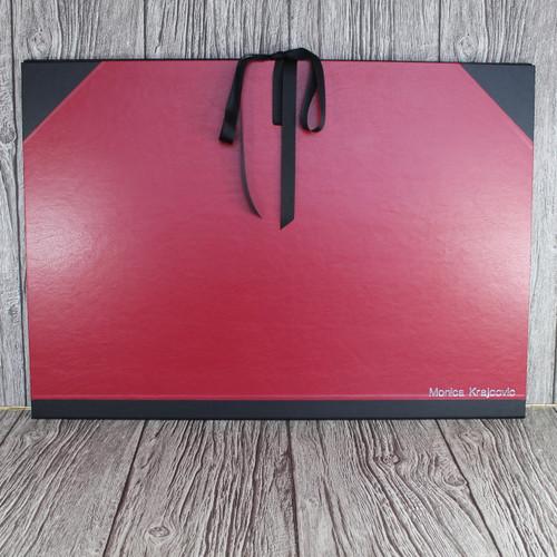 A4 Red & Black Art Portfolio / Cachet Portfolio