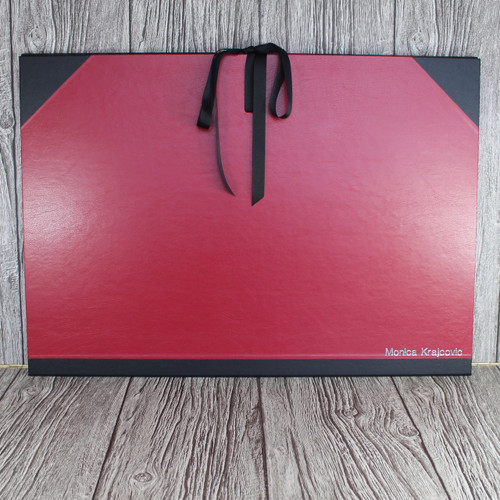 A2 Red & Black Art Portfolio / Cachet Portfolio