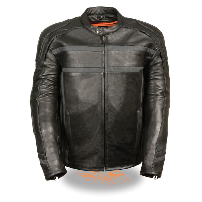 2083 Mens Vented Leather Jacket