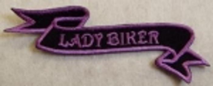 Lady Biker Purple Patch
