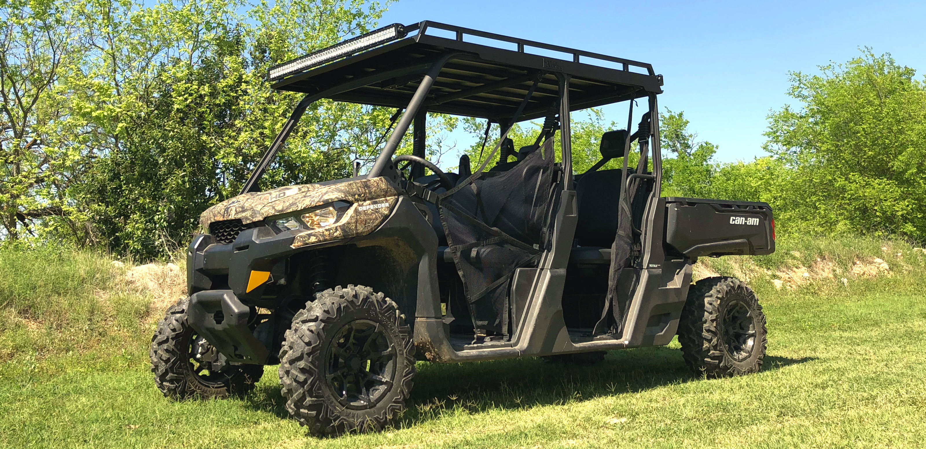 Can-am Defender Metal Aluminum Roof with Rack by Ranch Armor UTV