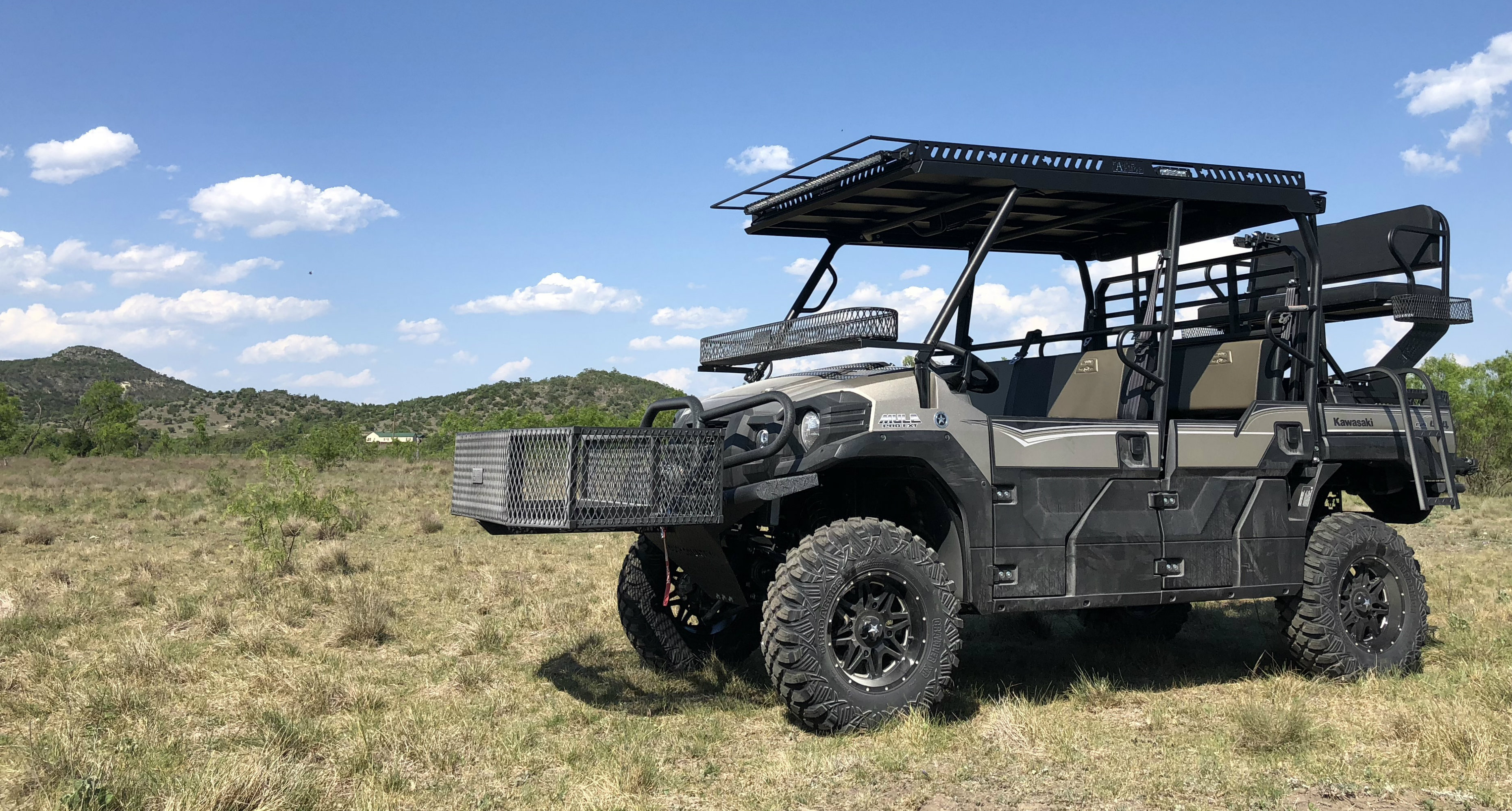 Kawasaki Mule Pro FXT Metal Top and High Seat Ranch Armor UTV Outfit