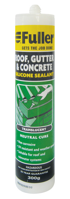 Silicone roof & gutter trans 300g fullers mbspecial