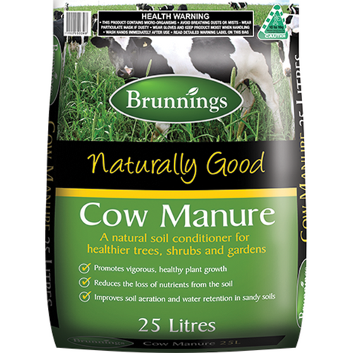 Cow manure 25l brunnings