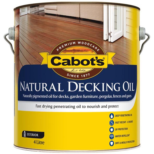 Cabots natural decking oil 4l