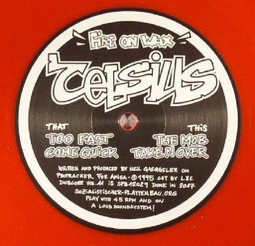 "Celsius - Fire On Wax - Limited Edition 12"" Red Vinyl"
