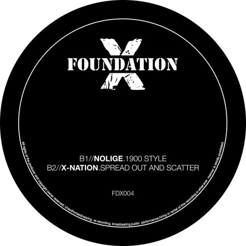 "Foundation X 004 - Threshold, Skitty, Nolige & X-Nation - 12"" Vinyl"