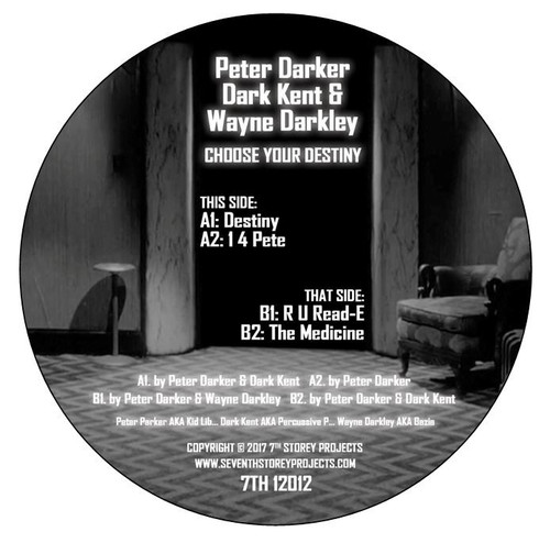 "Peter Darker (Kid Lib), Wayne Darkley & Dark Kent - Choose Your Destiny - 12"" Vinyl"