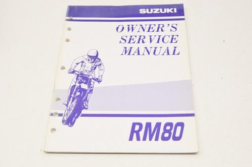 suzuki owner s service manual rm80 99011 02b75 03a in stock rh instockmotorsports com suzuki rm80 service manual Suzuki RM 125