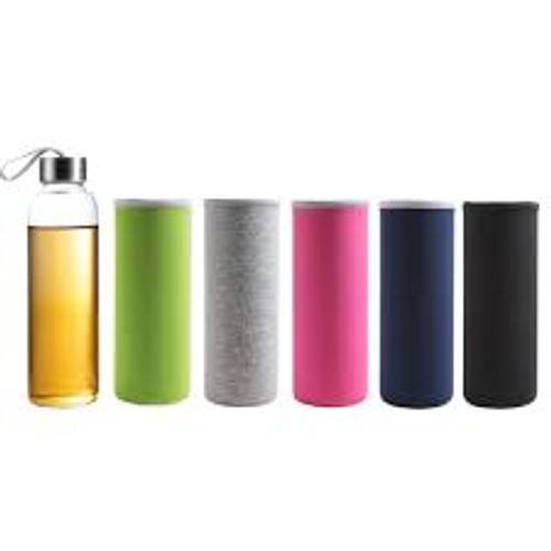 550ml Glass Sports Bottle with Infuser