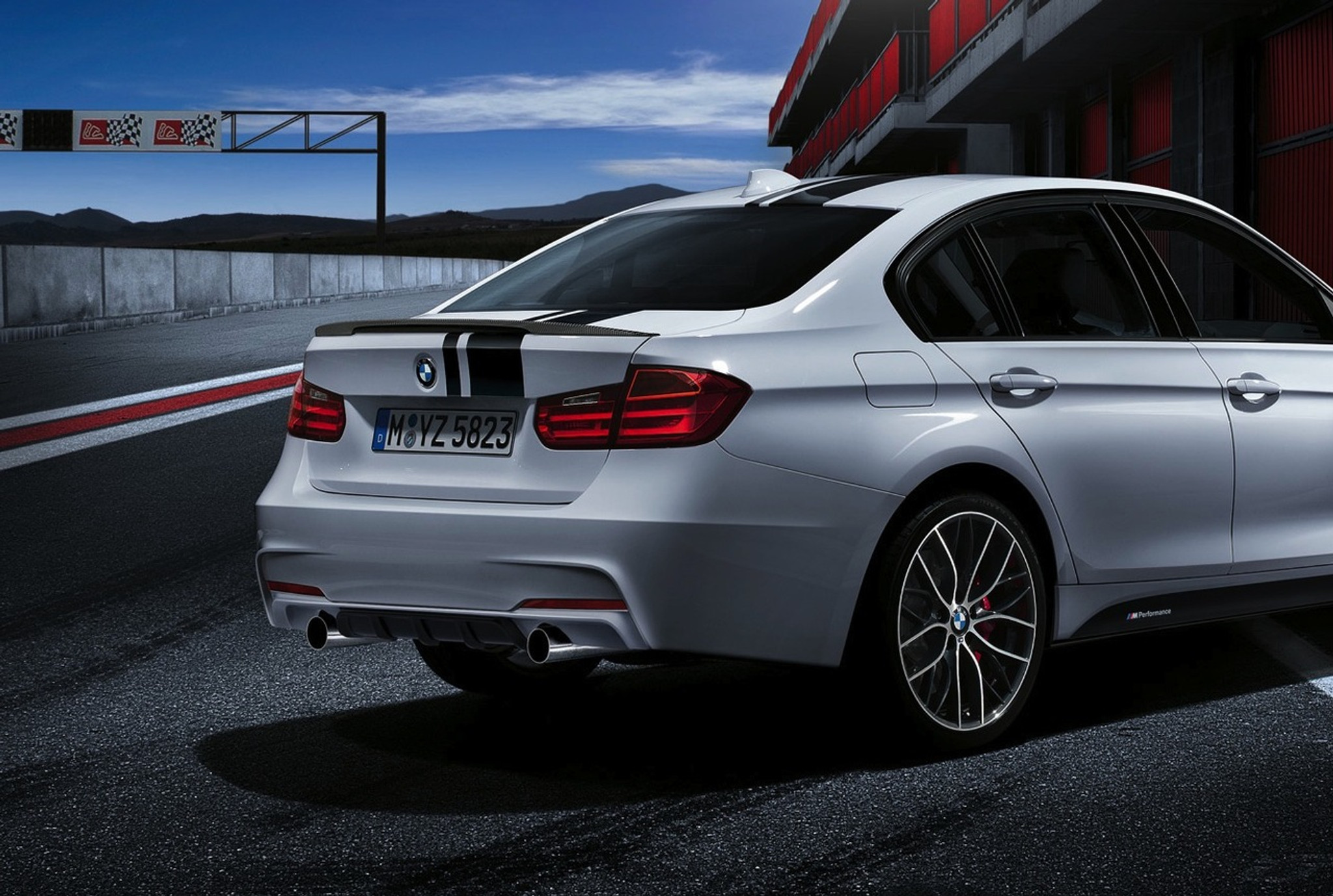 bmw m performance exhaust f30 335i bmr autowerkes. Black Bedroom Furniture Sets. Home Design Ideas