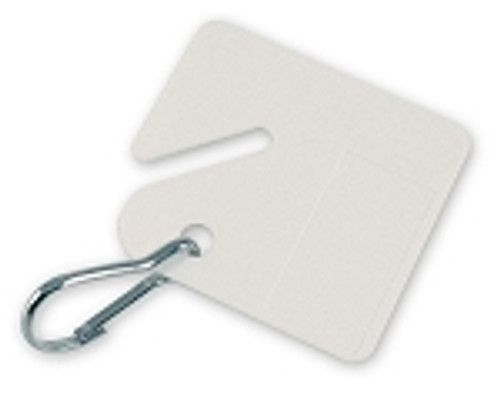 26690: CABINET TAG W/ HOOK, WHITE, 100/ BX